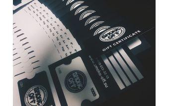Подарочные сертификаты SmokeOff