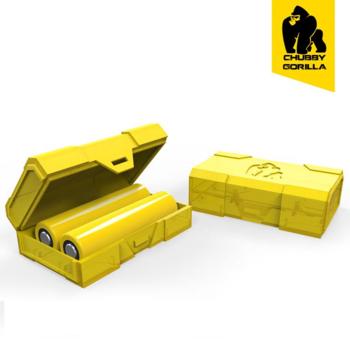 Чехол для аккумуляторов Chubby Gorilla BATTERY CASE 2 слота желтый