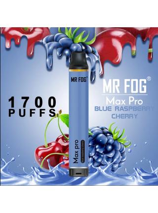 Набор Mr.fog max pro 5% 1700 puffs Blue raspberry cherry