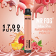 Набор Mr.fog max pro 5% 1700 puffs raspberry peach