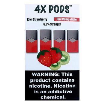 Сменный картридж 4X pods для JUUL Kiwi Strawberry 4шт 1мл 70мг