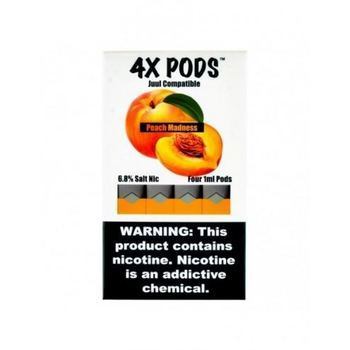 Сменный картридж 4X pods для JUUL Peach Madness 4шт 1мл 70мг
