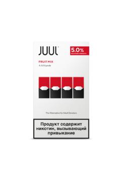 Сменный картридж для JUUL Fruit Mix 4шт 0.7мл 50мг