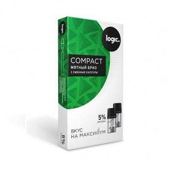 Сменный картридж для Logic Compact Мятный Бриз 2шт 1.6мл 50мг