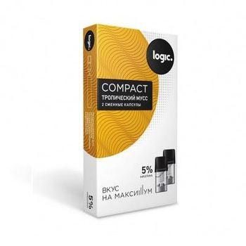 Сменный картридж для Logic Compact Тропический Мусс 2шт 1.6мл 50мг