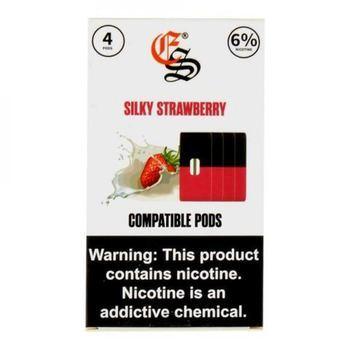 Сменный картридж Eonsmoke для JUUL Silky Strawberry 4шт 1мл 60мг