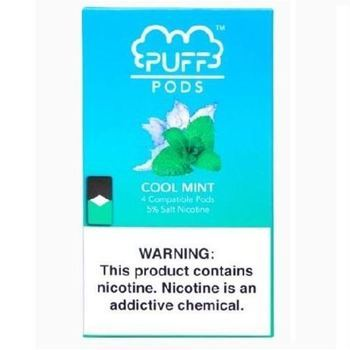 Сменный картридж Puff pods для JUUL Cool Mint 4шт 1мл 50мг