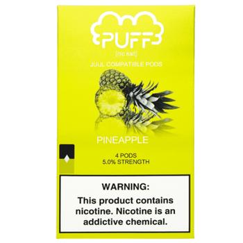 Сменный картридж Puff pods для JUUL Pineapple 4шт 1мл 50мг