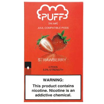 Сменный картридж Puff pods для JUUL Strawberry 4шт 1мл 50мг