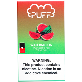 Сменный картридж Puff pods для JUUL Watermelon 4шт 1мл 50мг