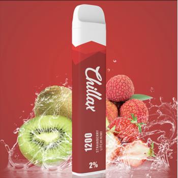 Набор Chillax 2% 1200 puffs Strawberry Litchi Kiwi