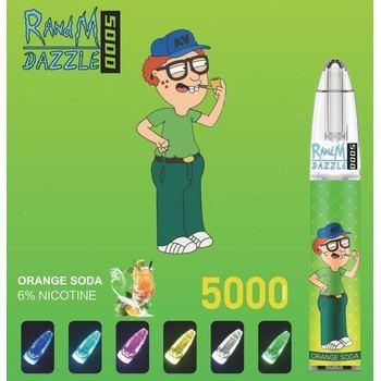 Набор RANDM Dazzle 5000 2% 5000 puffs (LED,microUSB) Апельсиновая Газировка