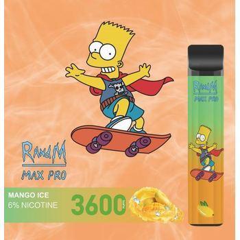 Набор RANDM MAX PRO 2% 3600 puffs (LED,microUSB) Mango Ice