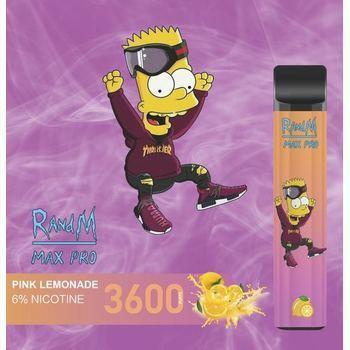 Набор RANDM MAX PRO 2% 3600 puffs (LED,microUSB) Pink Lemonade