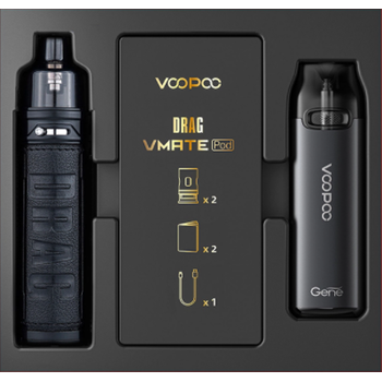Набор VOOPOO Drag S+Vmate Pod Gift Set Dark Classic|Grey