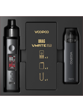 Набор VOOPOO Drag S+Vmate Pod Gift Set Dark Retro|Grey