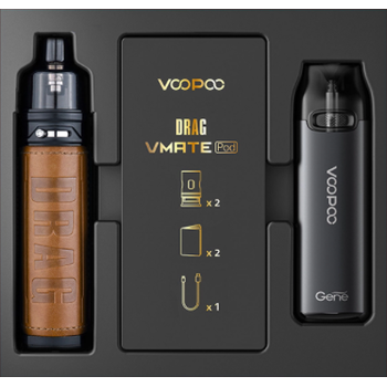 Набор VOOPOO Drag X+Vmate Pod Gift Set Dark Retro Grey