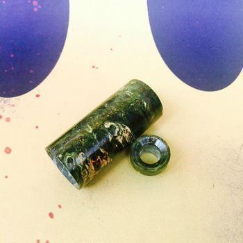 Комплект 810 Drip Tip & Sleeve for Able Mod StabWood Зеленый