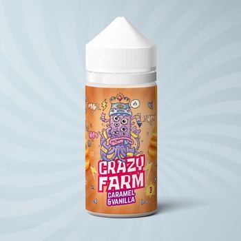Жидкость Crazy Farm Caramel Vanilla 100мл