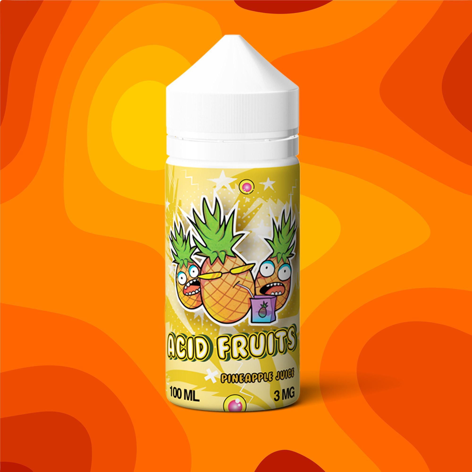 Жидкость acid fruits pineapple juice 100мл